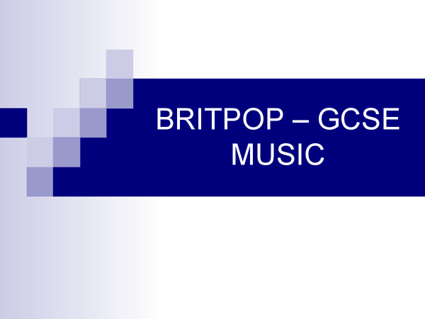 Preview of Britpop Powerpoint Presentation