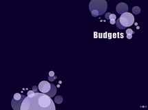 Preview of Budgets