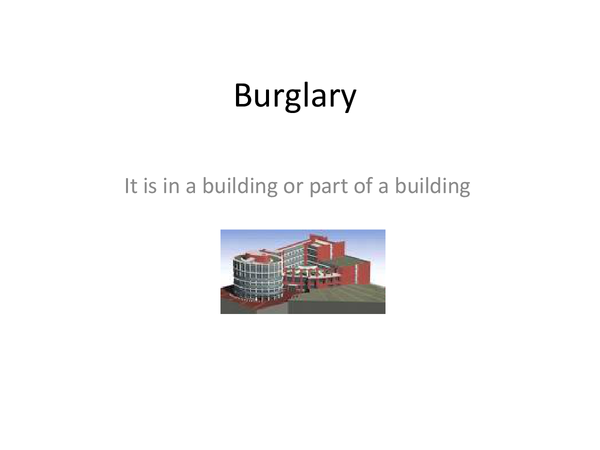 Preview of Burglary 2009