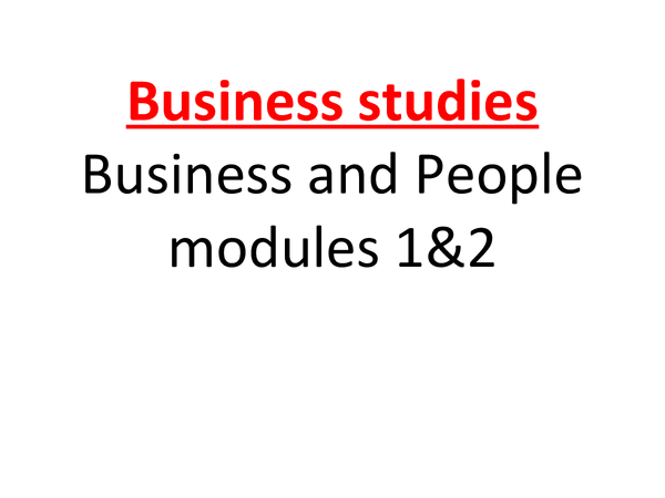 Preview of Business and people full notes