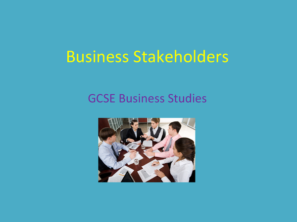 Preview of Business Stakeholders