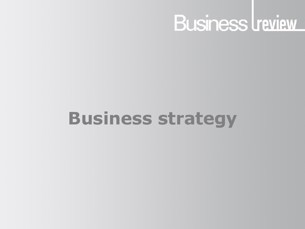 Preview of Business Strategy PowerPoint - Business Review