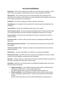 Preview of Business Studies Key Terms and Definitions