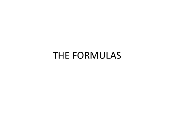 Preview of Business Unit 1 Formulas Overview