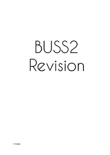 Preview of BUSS2 Business Unit 2 Revision