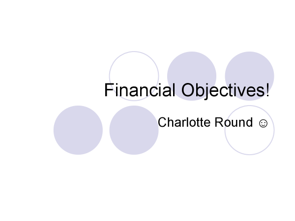 Preview of BUSS3 Understanding financial objectives powerpoint.