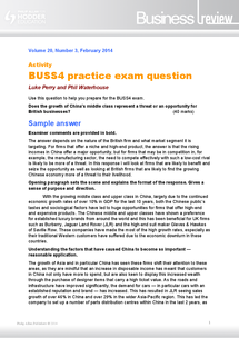 Preview of BUSS4 - 2014 China - Practice exam question and example answer with examiners comments
