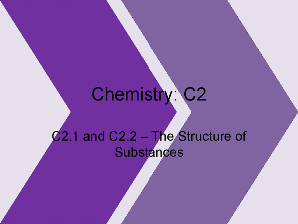 Preview of C1.1 and C1.2: The Structure of Substances