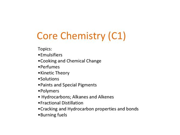 Preview of C1 GCSE OCR GATEWAY