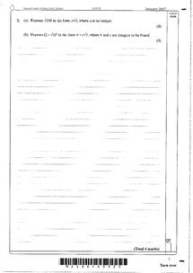 Preview of C1 Surds past paper questions