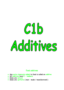 Preview of C1B REVISION NOTES