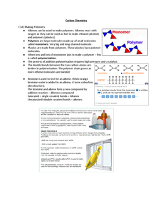 Preview of C1d - Making Polymers for OCR Gateway B
