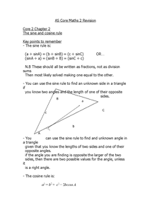 Preview of C2 Core Maths - Chapter 2 Notes