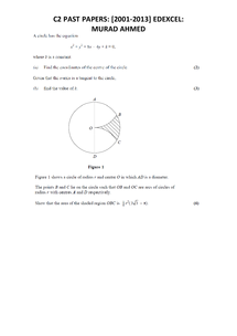 Preview of C2 past papers (harder)