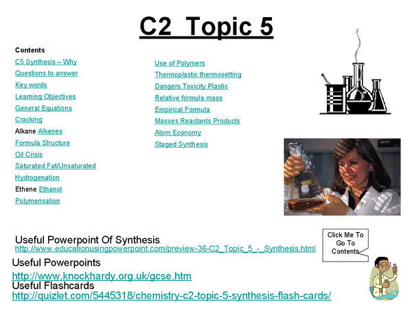 Preview of C2 Topic 5 - Synthesis. Everything you need to know.