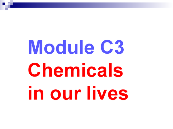 Preview of C3-Chemicals in our lives