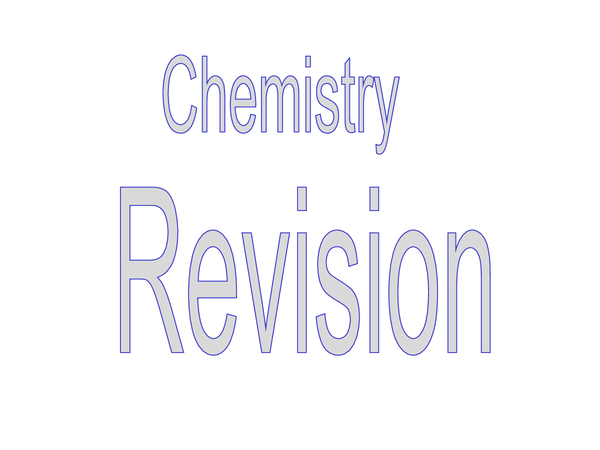 Preview of C3 Chemistry revision pack (including past papers)