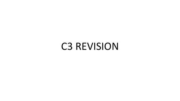 Preview of C3 Revision on the early periodic table