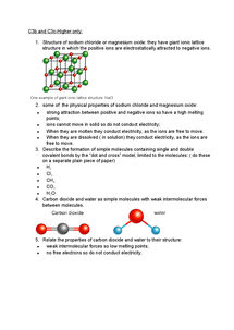 Preview of C3b & C3c How Atoms Combine Covalent Bonding Question Higher