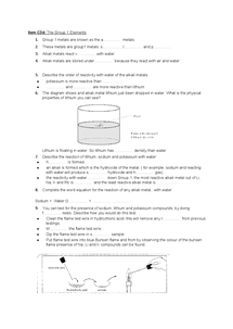 Preview of C3d Group 1 Elements Question Foundation Paper