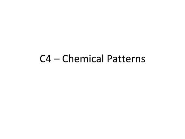 Preview of C4 Chemical Patterns