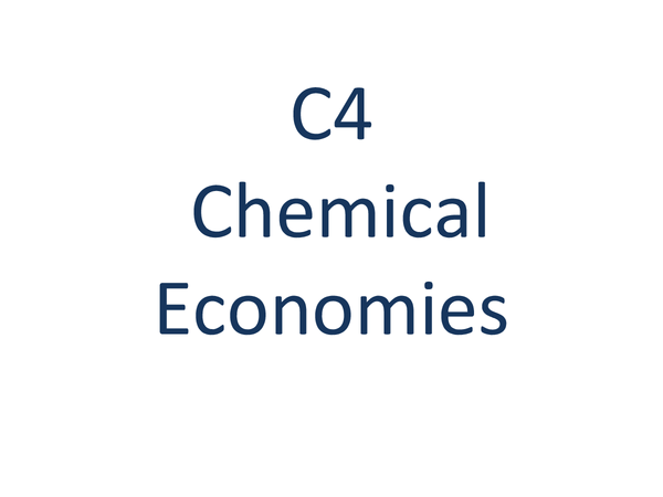Preview of C4 CHEMISTRY REVISION OCR