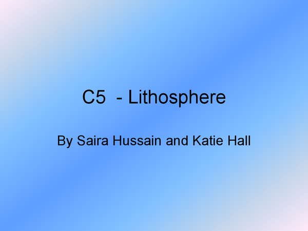 Preview of C5 - Lithosphere