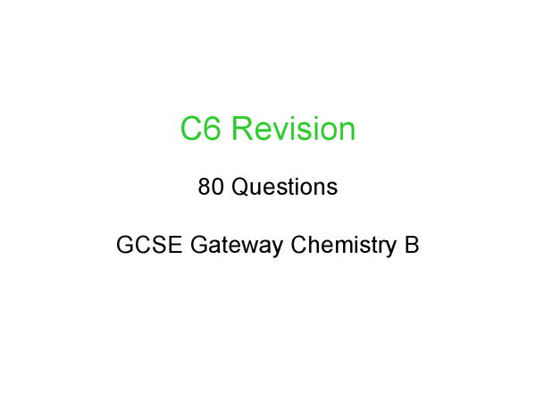 Preview of C6 revision - everything you need to know :D