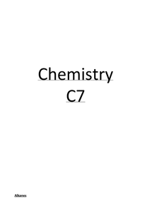 Preview of C7 - further chemistry
