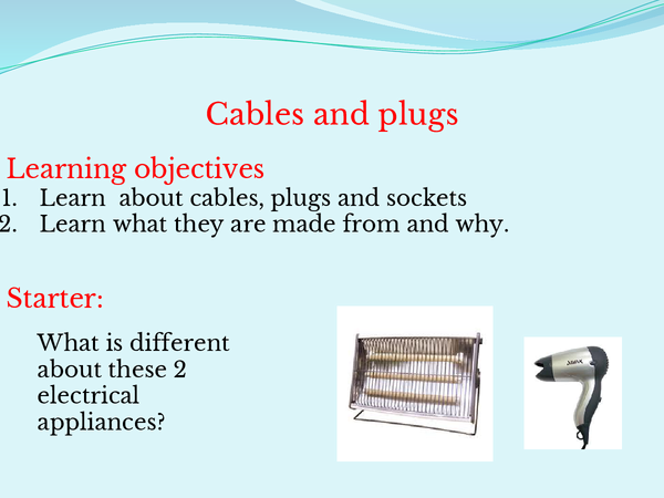 Preview of Cables,plugs and fuses