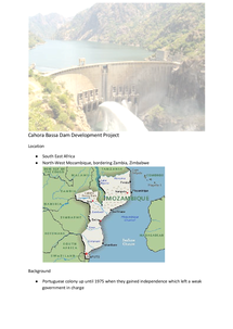Preview of Cahora Bassa Dam - Aid Case Study