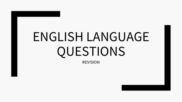 Preview of Cambridge English Language Questions and Answers Ppt