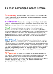 Preview of Campaign Finance