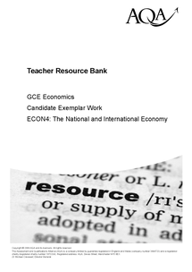 Preview of Candidate examplar work - candidates example work with examiners comments and marks from AQA