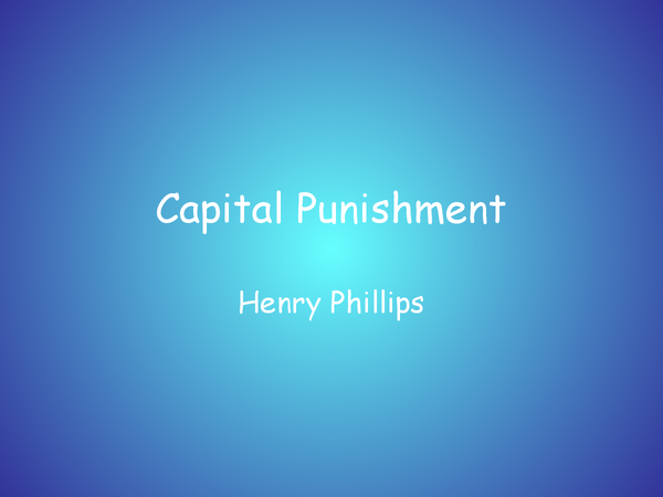 Preview of Capital Punishment