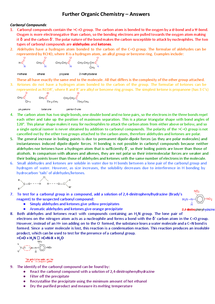 Preview of Carbonyl Compounds - Aldehydes and Ketones