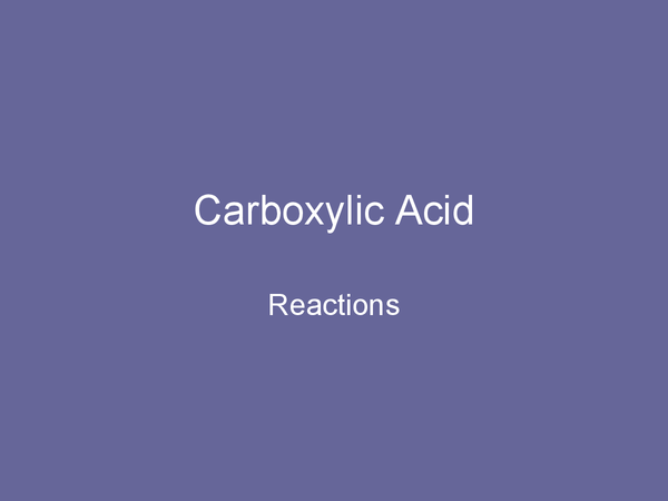 Preview of Carboxylic Acid