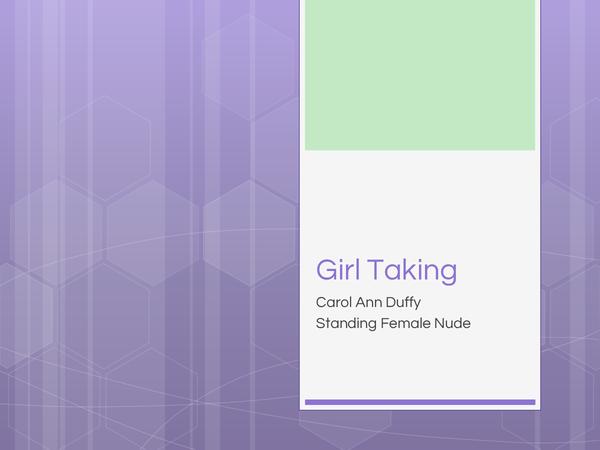 Preview of Carol Ann Duffy- Girl Talking Poem Analysis