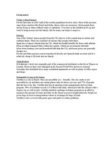 Preview of Case studies for Edexcel B Unit 11 Living Spaces