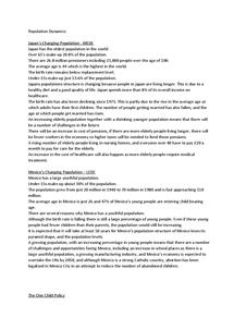Preview of Case studies for Edexcel B Unit 9 Population Dynamics