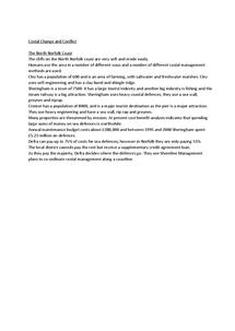 Preview of Case Studies for Edexcel B Unit Five Coastal Change