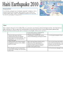 Preview of Case Study- Haiti Earthquake 2010