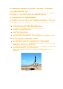 Preview of Case Study Solving Problems in Coastal Resorts Blackpool