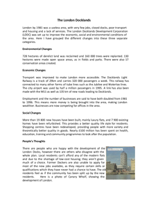 Preview of Case Study: The London Docklands