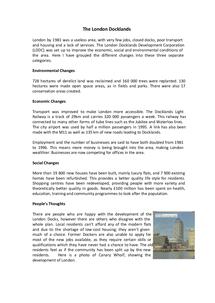 london docklands case study bbc bitesize