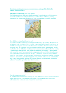 Preview of Case Study Zuider Zee Netherlands