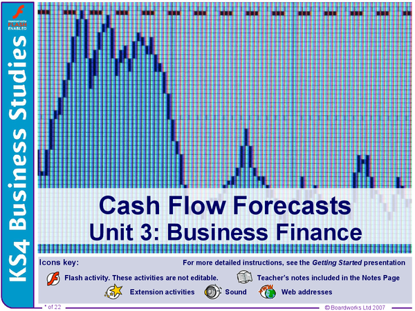 Preview of Cash Flow Forecast