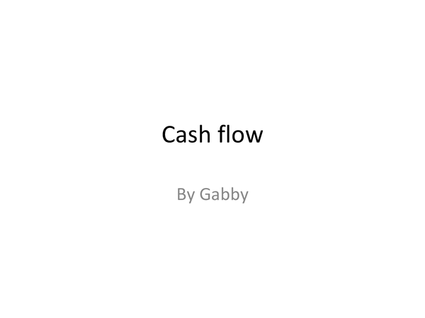 Preview of Cash flow forecasting ppt