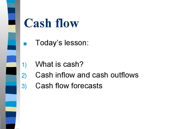Preview of CASH FLOW POWERPOINT