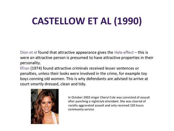 Preview of Castellow et al study